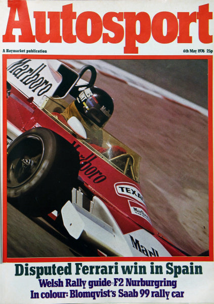Cover of Autosport magazine, 6th May 1976