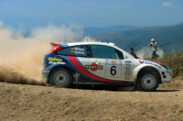 2000 World Rally ChampionshipRound 7, Acropolis Rally Greece9th -11th June 2000Carlos Sainz in action in the Ford Focus.Photo: McKlein