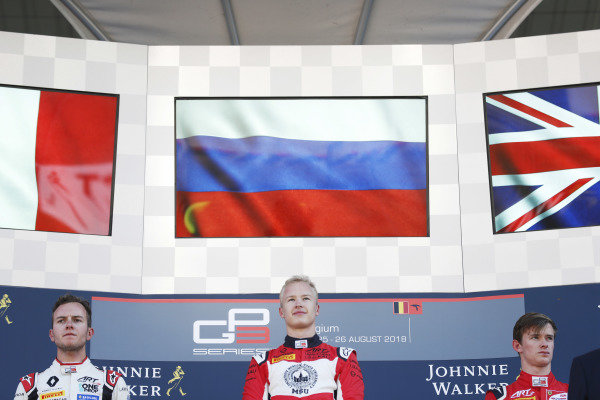 Hubert (FRA, ART Grand Prix) Nikita Mazepin (RUS, ART Grand Prix) and Callum Ilott (GBR, ART Grand Prix)