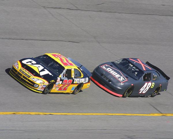 2002 NASCAR Cup TestingDaytona, Florida, USA. 8th January 2002.Burton and Johnson - drafting practice.World Copyright: Greg Aleck/LAT Photographicref: Digital Image Only
