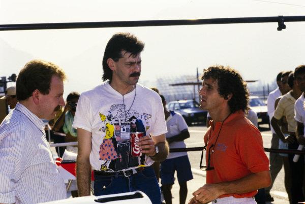 Neil Oatley, Gordon Murray, and Alain Prost.
