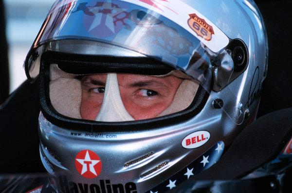 1999 CART MIAMI GP, 21-3-99, Homestead, FL, USAMichael Andretti shows the intensity of a champion.-1999, Michael L. Levitt, USA 248-399-3371LAT PHOTOGRAPHIC