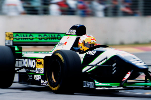 1995 Australian Grand Prix. Adelaide, Australia. 10-12 November 1995. Luca Badoer (Minardi M195 Ford). He did not start the race after his electrics failed on the dummy grid. Ref-95 AUS 17. World Copyright - LAT Photographic