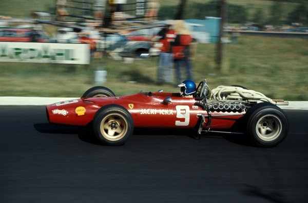 Jacky Ickx (BEL) Ferrari 312 retired on lap 52. Formula One World Championship, Rd1, South African Grand Prix, Kyalami, South Africa, 1 January 1968. BEST IMAGE