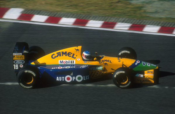 1991 Japanese Grand Prix.Suzuka, Japan.18-20 October 1991.Michael Schumacher (Benetton B191 Ford). He exited the race with an engine failure.Ref-91 JAP 17.World Copyright - LAT Photographic