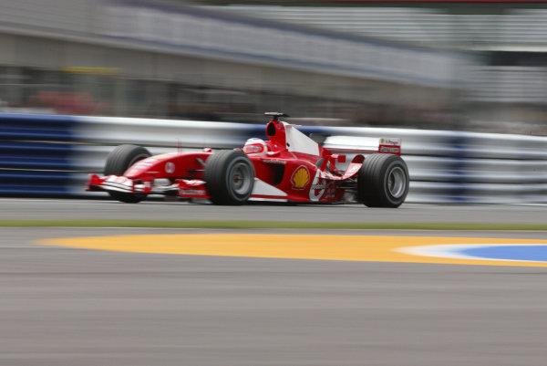 2004 British Grand Prix - Friday Practice,Silverstone, Britain. 09th July 2004.Rubens Barrichello (Ferrari F2004).World Copyright: Steve Etherington/LAT Photographic ref: Digital Image Only