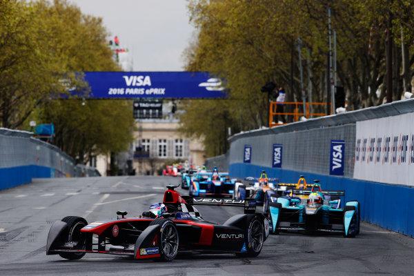 2015/2016 FIA Formula E Championship. Paris ePrix, Paris, France. Saturday 23 April 2016. Stephane Sarrazin (FRA), Venturi VM200-FE-01. Photo: Glenn Dunbar/LAT/Formula E ref: Digital Image _W2Q1867
