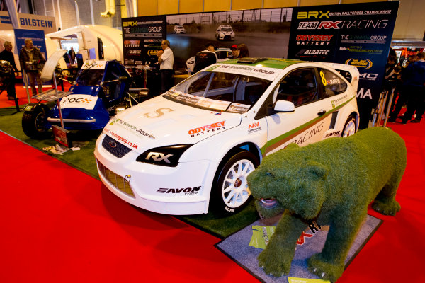 Autosport International Exhibition.  National Exhibition Centre, Birmingham, UK. Sunday 17 January 2016.  The British Rallycross Championship stand. World Copyright: Mike Hoyer/LAT Photographic. ref: Digital Image EL0G9178