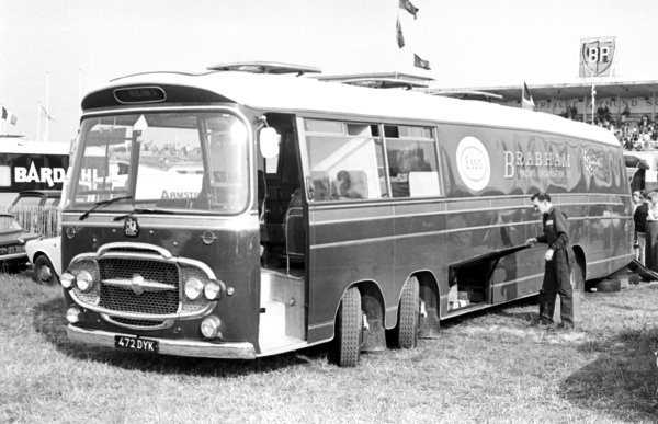 The Brabham motor home.  French Grand Prix, Reims, 3 July 1966.