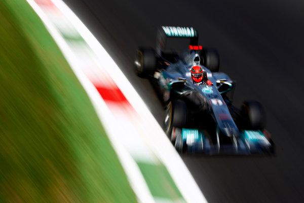 Autodromo Nazionale di Monza, Monza, Italy.9th September 2011.Michael Schumacher, Mercedes GP W02. Action.World Copyright: Glenn Dunbar/LAT Photographicref: Digital Image _G7C0846