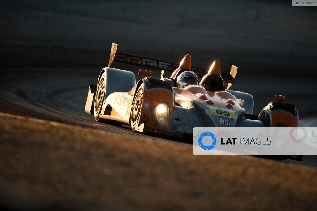 American Le Mans Series. Laguna Seca, Monterey, California. 15th - 17th September 2011. Gunnar Jeannette / Ricardo Gonzalez / Rudy Junco, Core Autosport, Oreca FLM09. Action. Photo: Drew Gibson/LAT Photographic. ref: Digital Image _Y2Z7004