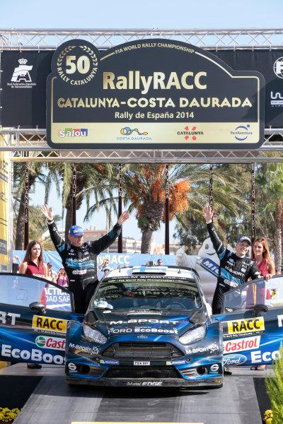 2014 World Rally Championship Rally de España 23rd - 26th October September 2014 Mikko Hirvonen, Jarmo Lehtinen, Ford WRC, Podium Worldwide Copyright: McKlein/LAT