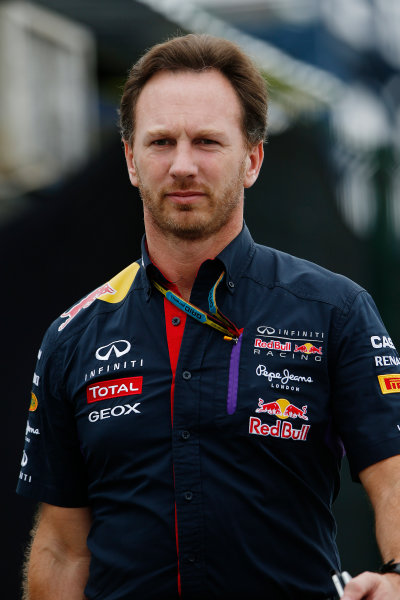 Interlagos, Sao Paulo, Brazil. Friday 7 November 2014. Christian Horner, Team Principal, Red Bull Racing. World Copyright: Charles Coates/LAT Photographic. ref: Digital Image _N7T7257