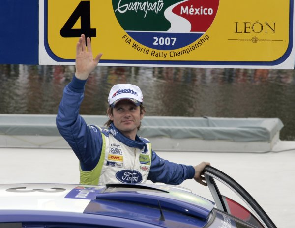 2007 FIA World Rally ChampionshipRound 4Rally Mexico 20078th-11th March 2007Marcus Gronholm, Ford, Podium.Worldwide Copyright: McKlein/LAT