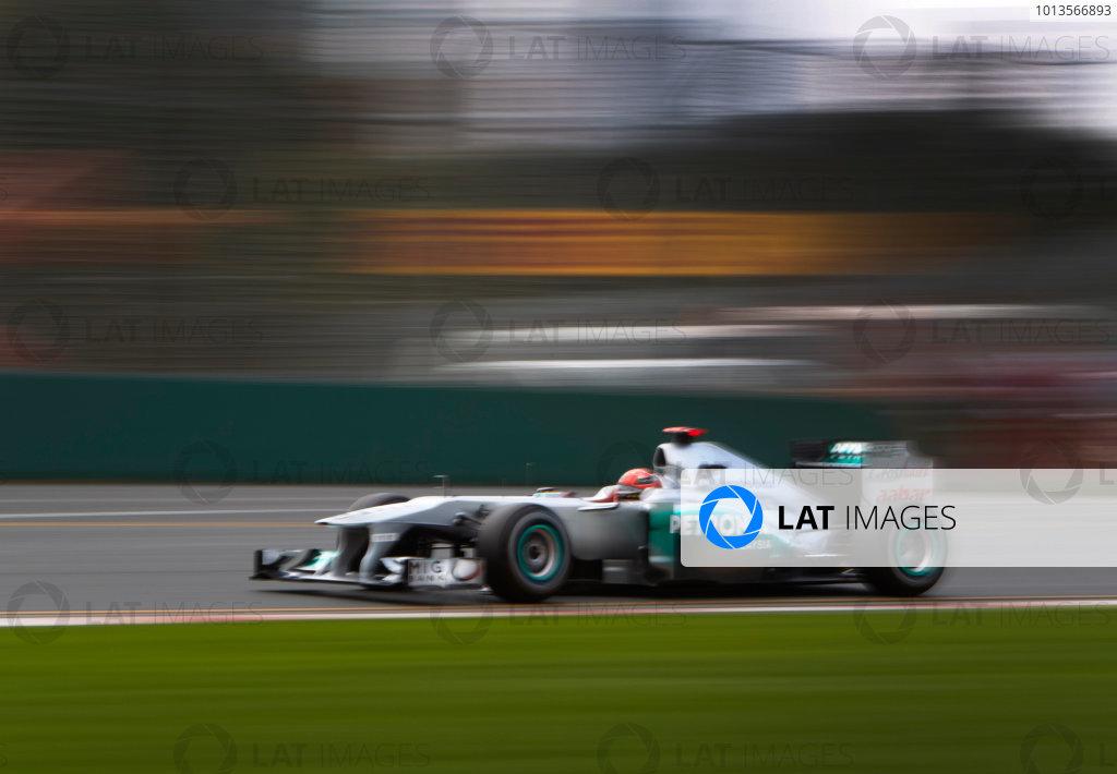 Albert Park, Melbourne, Australia 24th March 2011. Michael Schumacher, Mercedes GP W02. Action.  World Copyright: Steve Etherington/LAT Photographic ref: Digital Image SNE23737