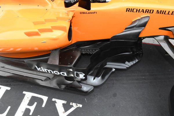 McLaren MCL33 barge board detail