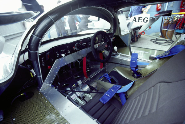 The cockpit of the Jochen Mass / Manuel Reuter / Stanley Dickens, Team Sauber Mercedes, Sauber-Mercedes C9/88.