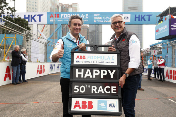 Alejandro Agag, CEO, Formula E, with Ulrich Spiesshofer, CEO, ABB