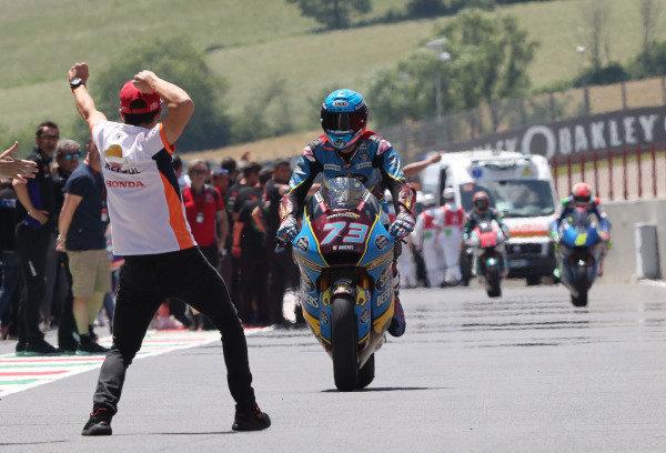 Race winner Alex Marquez, Marc VDS Racing with Marc Marquez, Repsol Honda Team.