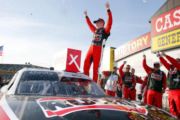 #20: Christopher Bell, Joe Gibbs Racing, Toyota Supra Ruud celebrates in victory lane