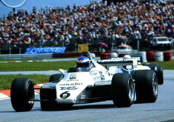 1982 Austrian Grand Prix.Osterreichring, Zeltweg, Austria.13-15 August 1982.Keke Rosberg (Williams FW08 Ford) 2nd position.  Ref: 82AUT11. World Copyright - LAT Photographic