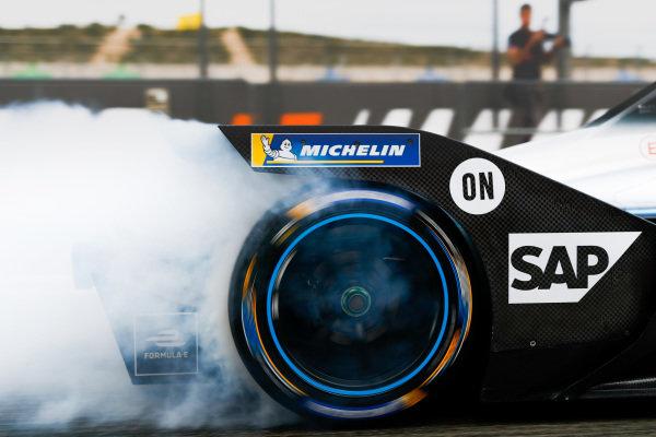Rear tyre of Nyck De Vries (NLD), Mercedes Benz EQ, EQ Silver Arrow 01