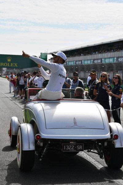 Lewis Hamilton (GBR) Mercedes AMG F1 at Formula One World Championship, Rd1, Australian Grand Prix, Race, Albert Park, Melbourne, Australia, Sunday 26 March 2017.