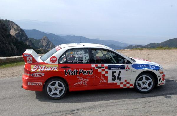 2002 World Rally ChampionshipInmarsat Corsica Rally, 8th-10th March 2002.Ramon Ferreyros winner of group N.Photo: Ralph Hardwick/LAT