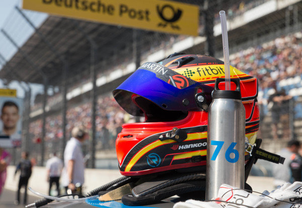 Helmet of Jake Dennis, R-Motorsport, Aston Martin Vantage AMR.