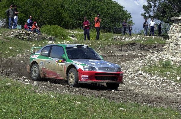 World Rally Championship, Cyprus Rally, April 18-21, 2002.Armin Schwarz in action on Stage 17, Leg 3.Photo: Ralph Hardwick/LAT