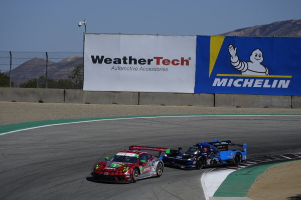 #9: Pfaff Motorsports Porsche 911 GT3R, GTD: Zacharie Robichon, Laurens Vanthoor, #10: Konica Minolta Acura ARX-05 Acura DPi, DPi: Ricky Taylor, Filipe Albuquerque