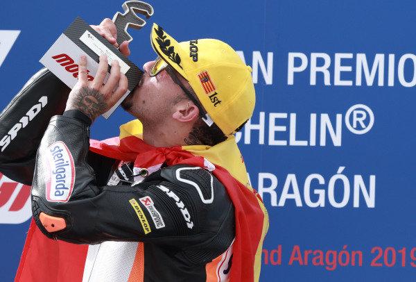 Podium: race winner Aron Canet, Max Racing Team