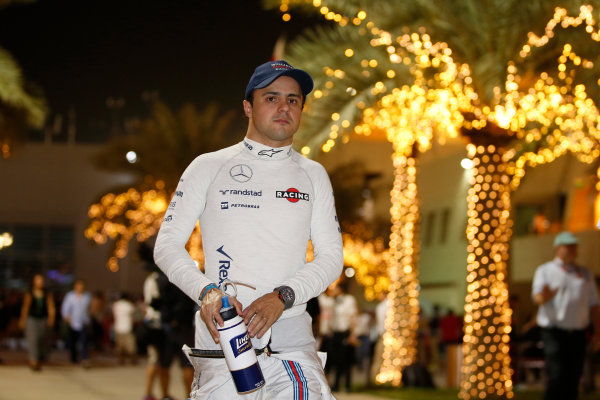 Bahrain International Circuit, Sakhir, Bahrain. Saturday 18 April 2015. Felipe Massa, Williams F1. World Copyright: Glenn Dunbar/LAT Photographic. ref: Digital Image _89P9449