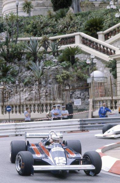 1981 Monaco Grand Prix.Monte Carlo, Monaco. 28-31 May 1981.Nigel Mansell (Lotus 87-Ford Cosworth), retired.World Copyright: LAT PhotographicRef: 35mm transparency 81MON26