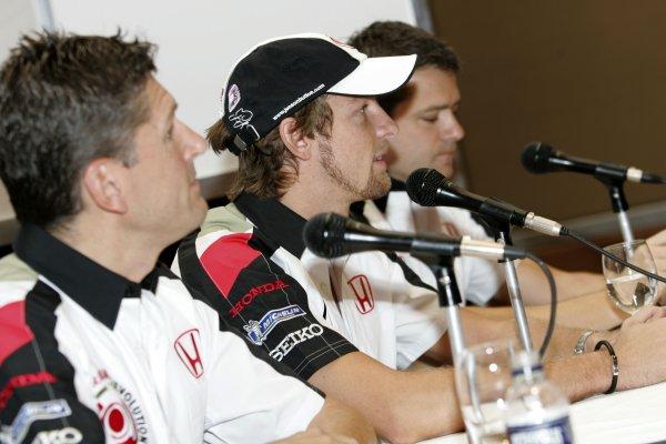 2005 Brazilian Grand Prix.Sao Paulo, Brazil.21st September 2005.Jenson Button, BAR Honda Press ConfrenceWorld Copyright: L Bellanca/LAT Photographic.Ref: Digital Image Only.