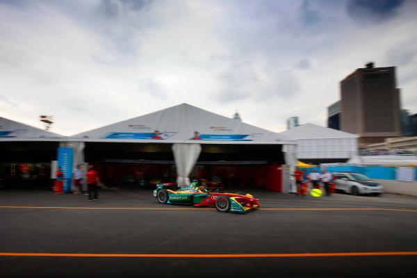 FIA Formula E Hong Kong e-Prix. The Race. Daniel Abt (GER), ABT Schaeffler Audi Sport, Spark-Abt Sportsline, ABT Schaeffler FE02.  Hong Kong Harbour, Hong Kong, Asia. Sunday 9 October 2016. Photo: Adam Warner / FE / LAT ref: Digital Image _L5R8206