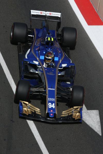 Baku City Circuit, Baku, Azerbaijan. Friday 23 June 2017. Pascal Wehrlein, Sauber C36-Ferrari. World Copyright: Charles Coates/LAT Images ref: Digital Image AX0W5726