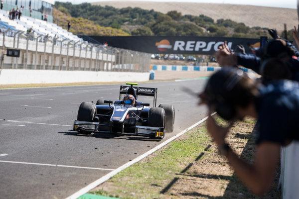 2017 FIA Formula 2 Round 10. Circuito de Jerez, Jerez, Spain. Sunday 8 October 2017. Artem Markelov (RUS, RUSSIAN TIME) wins the race. Photo: Andrew Ferraro/FIA Formula 2. ref: Digital Image _FER3634