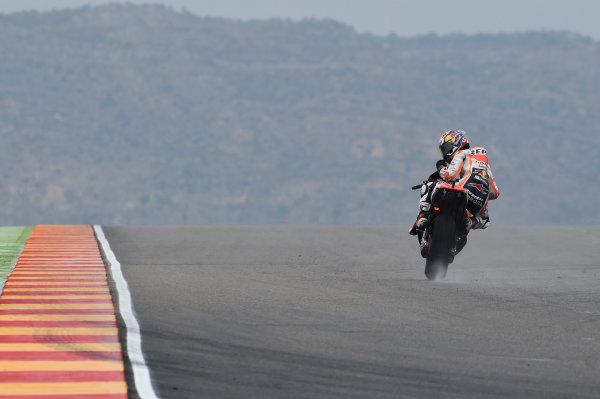 2017 MotoGP Championship - Round 14 Aragon, Spain. Friday 22 September 2017 Dani Pedrosa, Repsol Honda Team World Copyright: Gold and Goose / LAT Images ref: Digital Image 693696