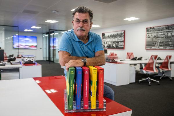 Rainer W. Schlegelmilch poses in the Motorsport Network office in Richmond, United Kingdom Photo: Eric Gilbert