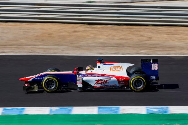 2017 FIA Formula 2 Round 10. Circuito de Jerez, Jerez, Spain. Friday 6 October 2017. Nabil Jeffri (MAS, Trident).  Photo: Zak Mauger/FIA Formula 2. ref: Digital Image _X0W0995