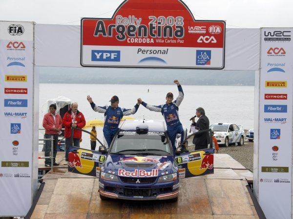 2008 FIA World Rally ChampionshipRound 04Rally Argentina 27-30 of MarchAndreas Aigner, PWRC Mitsubishi, PodiumWorldwide Copyright: McKlein/LAT