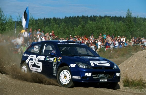 Markko Martin (EST) Ford Focus RS WRC.FIA World Rally Championship, Rd9, Neste Rally Finland, Finland. 8-11 August 2002.BEST IMAGE