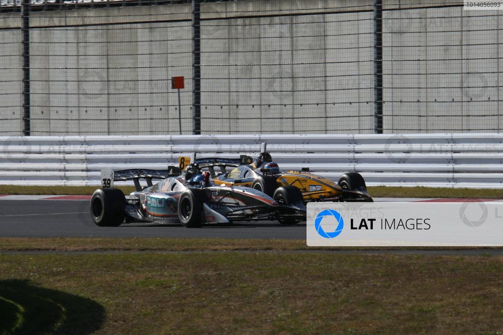 Fuji, Japan. 23rd - 24th November 2013. Rd 7. Fuji Sprint Cup. Winner Yuji Kunimoto ( #39 P.MU/CERUMO·INGING ), action. World Copyright: Yasushi Ishihara/LAT Photographic. Ref: 2013JAF_GP_SF_006