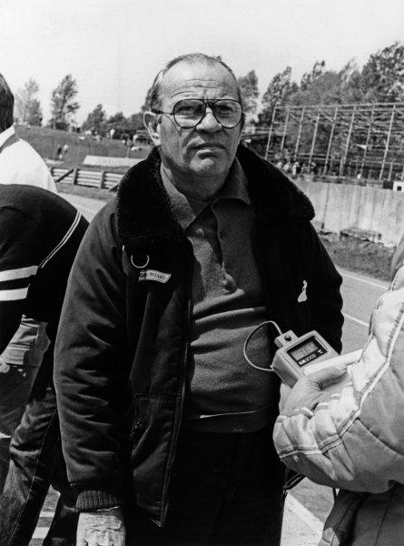 1984 British Grand Prix. Brands Hatch, England. 20th - 22nd July 1984. Guy Ligier, portrait. World Copyright: LAT Photographic.  Ref:  B/W Print.