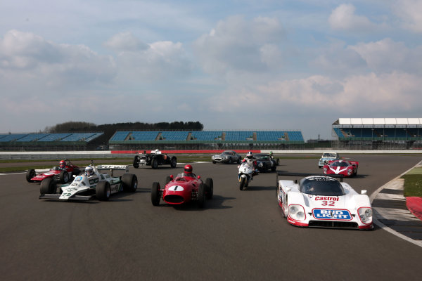 2017 Silverstone Classic Media Day. Silverstone, Northamptonshire. 23rd May 2017. Silverstone Classic class of 2017. World Copyright: JEP/LAT Images.