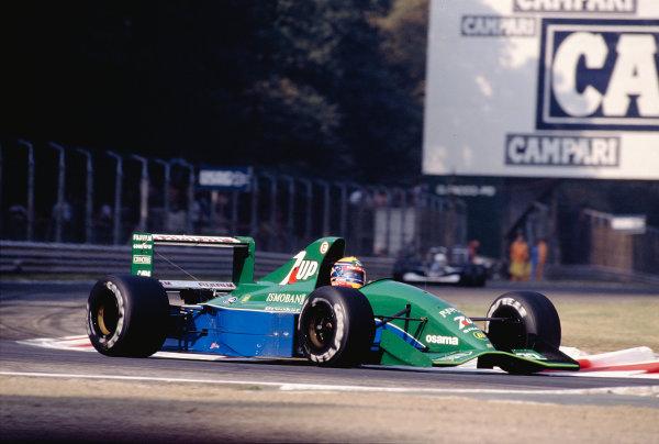 1991 Italian Grand Prix.Monza, Italy.6-8 September 1991.Roberto Moreno (Jordan 191 Ford).Ref-91 ITA 26.World Copyright - LAT Photographic