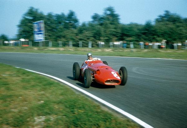 1957 Italian Grand Prix.Monza, Italy.6-8 September 1957.Giorgio Scarlatti (Maserati 250F) 5th position.Ref-57 ITA 04.World copyright - LAT Photographic