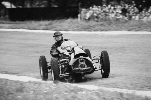 1952 Belgian Grand Prix. Spa-Francorchamps, Belgium. 22 June 1952. Mike Hawthorn (Cooper T20-Bristol), 4th position. Ref-52/25 #11. World Copyright - LAT Photographic