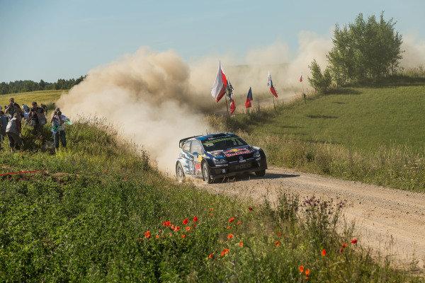 Sebastien Ogier (FRA) / Julien Ingrassia (FRA), Volkswagen Polo R WRC at FIA World Rally Championship, Rd7, Lotos 71st Rally Poland, Preparations & Shakedown, Mikolajki, Poland, Thursday 2 July 2015.